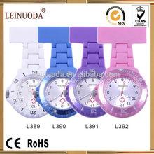 1 year warranty Japan quartz movement plastic silicone nurse watches