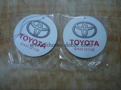 Shenzhen Lihome wholesele TOYOTA car logo haning papeer car air freshener/paper air freshener/paper car freshener for gift
