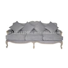 Antique wooden frame velvet sofa cushion sofa classic model
