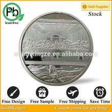 Italian Famous artwork The Last Supper Jesus Gold Plated Round Coin Da Vinci Opus design coin