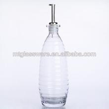 2014 kitchen 22oz clear bottle glass olive oil and vinegar ,spice jar,oil storage bottle CIRCLE style