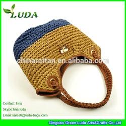 LUDA Raffia Straw Crochet Bags Lady Crochet Straw Bags