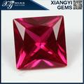 princesa corte quadrado forma de pedra de rubi sintético preço por quilate