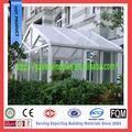 Alumínio pé livre marquise de vidro isolado& clarabóia do telhado de vidro