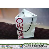 creative triangle shape white kraft paper wine bag