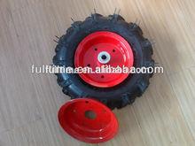 wheelbarrow tire 3.50-6 small pneumatic wheels with colourful metal rim
