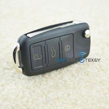 Flip key shell 3 button HU66 car key for Audi A3 A4 A6 A8 remote key