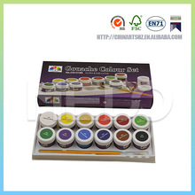 A high quality gouache painting colour set