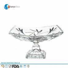 Samyo Custom Glassware Manufacturer ceramic mini cake stand with glass dome
