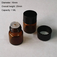 1ml Mini Small Amber Glass Essential Oil Bottle