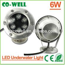 6w led underwater fountain lights DC12V IP68,led pond lights