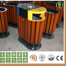 wood plastic composite dustbin wood park dustbin