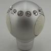 universal decorative fashionable aluminum leather gear shift knob