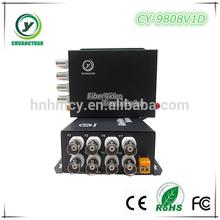 8 Channel cctv cameras transmit in Fiber optical equipment