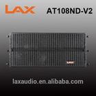 Titanium bi-amp line array speaker LAX AT108ND-V2/ Single 8 inch indoor & outdoor line array seapker