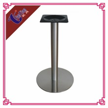 10% off price-off promotions round brushed stainless steel metal dining table leg