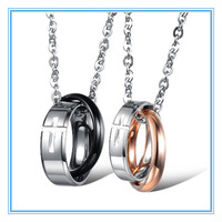 Qi Nuan Jewelry Stainless Steel Cross Pendant accessory jewelry for couple