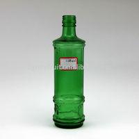 375ml colored glass bottles for drink or fancy green glass drink bottle