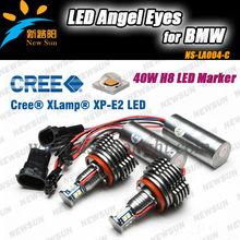 Factory Promotion 40W H8 Canbus LED Angel Eye kit for BMW Headlight LED Marker,E90 E92 E60 E70 X5 X6 E87 Z4 C REE LED angel eyes