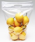 HT053-0414 PETPE plastic pouch Slider Pouch Pear zipper bag