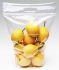 HT053-0414 PETPE plastic pouch Slider Pouch Pear zipper bag