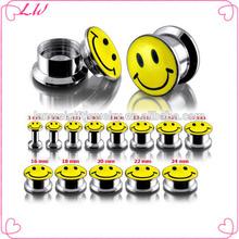 Hot sale logo flesh tunnel piercing expander stretcher ear tunnel piercing