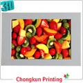 lenticular 3d la impresión 3d imagen de frutas para el regalo