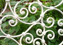WH14F037 white wrought iron fence ferforje korkuluk