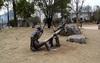 Bronze Children Playing Sculpture For Garden Decoration