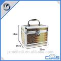 De alta calidad de bolsas y cajas cosméticos de esmalte de uñas caso cosmético de cuero con las bandejas mld-ac2448