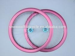 bicycle wheel sets fixie bike parts alloy rims hub spoke high quality fixed gear bike wheel bicycle parts SW-BP-W31