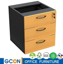 3 drawers fixed pedestal for office desk