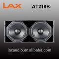 Lax at218b dual 18 pulgadas subwoofer altavoz/de alta potencia subwoofer 1800w