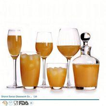 Sanzo Custom Glassware Manufacturer handmade luxury hotel glassware/glassware home goods