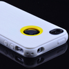 Brushed Silicone Soft Gel Back candy color TPU case for iPhone 4 4S