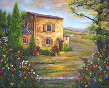 tuscany italian vineyard landscape painting