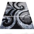 Poliéster cinza shaggy tapetes de carpete
