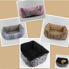 Rectangular soft dog bed with zipper