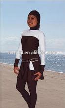 2014 hot selling new style modest muslim children girls swimwears