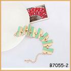 Fashion ladies' geometry crystal chain bracelet wholesale