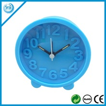 Hot sale silicone alarm clock on the table for promotion