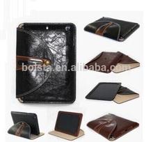Newest high quality PU Leather Smart rotating case for ipad mini