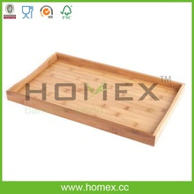 Bamboo Breakfast Food Tray/Kitchen Square Tray/Home Bed Table Serving Tray/Bamboo Kitchenware/Utensil Organizers/Homex