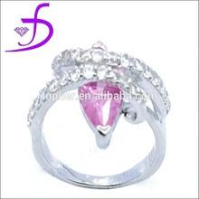 pink CZ ring mirco pave setting ring fashion new design