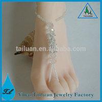 Newest Fashion Crystal Shoe Jewelry Wedding Barefoot Sandals