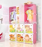 2014 plastic baby wardrobe with carton door