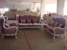 luxury fabric sofa/italian fabric sofa/wooden craving sofa