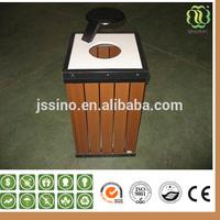 Waterproof Recyclable Outdoor Wpc Dustbin