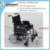 Hemiplegic patient use foldable electric wheelchair