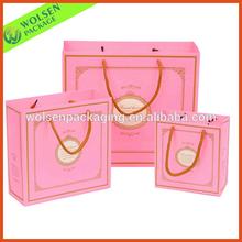 2014 New Pink rope handle soap paper bag